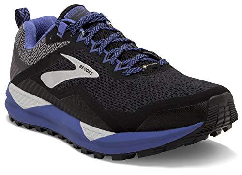 Brooks Cascadia 14 GTX, Scarpe da Running Donna, Nero (Black/Grey/Blue 053), 37.5 EU