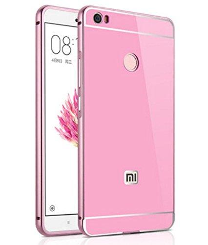 PREVOA® 丨Xiaomi Mi Max Funda - Metal Frame Funda Cover Case Protictive Carcasa para Xiaomi Mi Max - 6.44 pulgadas Smartphone - Rosa
