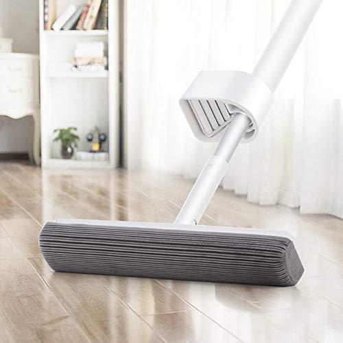 QWER PVA Sponge Mop mit 2 Saugköpfen Nachfüllungen Easy Clean für die Küche zu Hause Hartholz Laminat Holz Keramikfliesen Bodenreinigung Easy Clean Küche