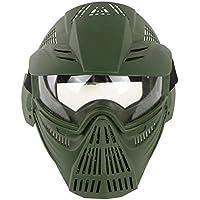 YVSoo Máscara Táctica Airsoft, Máscara Facial Táctica Protectora Máscara Casco para Nerf CS Juego,Paintball,Airsoft,Cosplay (Verde)