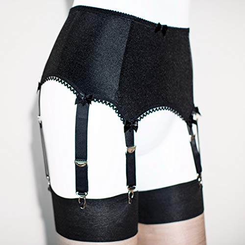 Frauen 6 Straps Gürtel Liga Dessous Sexy Lace Garter Gürtel Anzug,Black,XXL