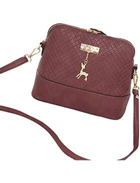 BZLine® Frauen Kurier Taschen Mode Mini Bag Deer Spielzeug Shell Form Tasche