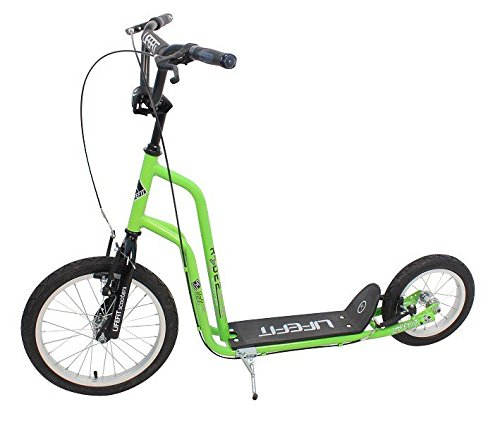 "Lifefit Rider, Monopattino Unisex-Adulto, Verde/Nero, 16\""/12\"""