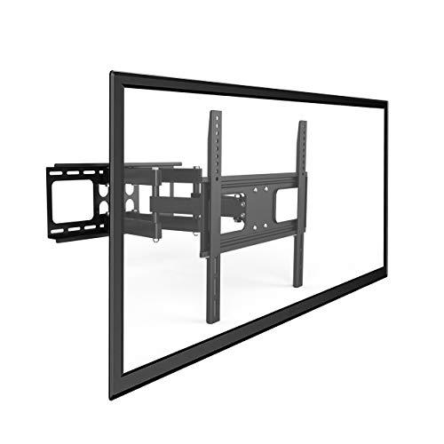 Savonga TV Wandhalter Fernseh Wandhalterung schwenkbar neigbar Monitor Halter für LED LCD 32-55 Zoll wie Samsung Telefunken Hisense VESA 100x100-400x400 hält max 50kg robuste Design doppelarm 522111N