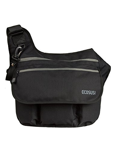 ecosusi-mens-baby-nappy-changing-diaper-cloth-bags-shoulder-messengers-for-dads-black