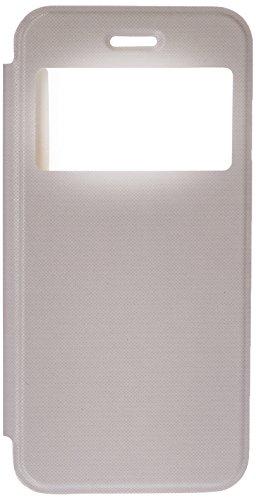 Skech SK25-SV-CBLK Slim View hochwertige Schutzhülle mit praktischem Informationsfenster & transparenter Rückseite für das Apple iPhone 6 Plus / 6S Plus - schwarz weiß