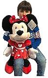 Minnie Mouse Disney 70cm Peluche Gigante per Bambini Ragazzi Adulti San Valentino (Rosso Cuore)