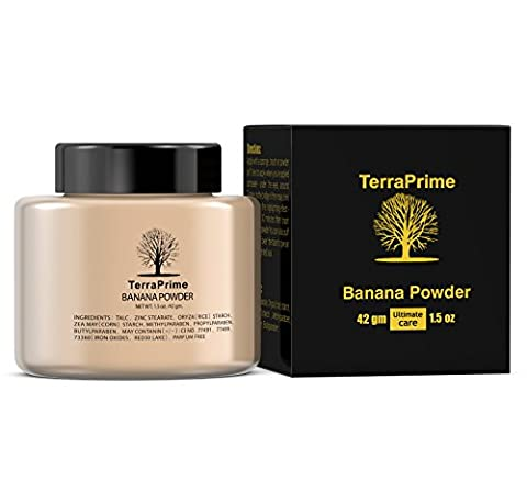 TerraPrime Banana Face Powder - Gives Celebrity Glowing Look, Camera Friendly, Suits for Majority of Skin Tones -