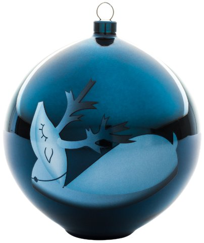 Christmas Weihnachtsschmuck - mundgeblasenes Glas, blau. ()