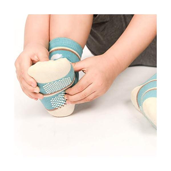 Wobon Calcetines Gruesos de Algodón de 12 Pares para Niños Pequeños, Calcetines Antideslizantes para Niños Pequeños… 2