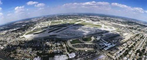Panoramic Images - Aerial view of an airport Midway Airport Chicago Illinois USA Photo Print (76,20 x 33,02 cm)