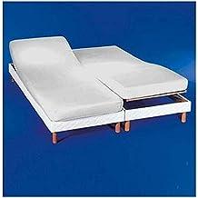 COTTON ART. Sábana bajera ajustable para camas dobles articuladas 160 x 190/200.