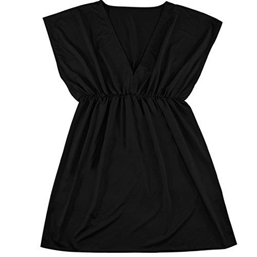 Partiss été robes femmes Bohemia Robe de plage Noir - Noir