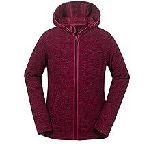 aparso Damen Fleecejacke Fleece Pullover Fleeceshirt Fleece Space Dye melange warm