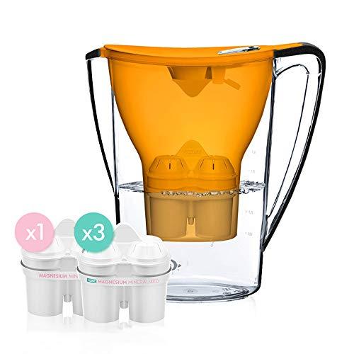 krug, sauberes Wasser 1,5 l Zink-Magnesium-Ionen-Filter, tragbarer Haushaltswasserreiniger,Orange ()