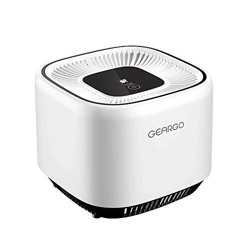 GEARGO Luftreiniger Air Purifier mit HEPA-Filter Aktivkohlefilter, 3-Stufen-Filterung für 99,97{565cd8dca959e237272a8bd6027486da0d2ad5762c816a169707bd70fff6e46a} Filterleistung, mit Blumentopf, perfekt für Allergiker, Raucher, Eliminator PM2.5, Bakterien, Pollen