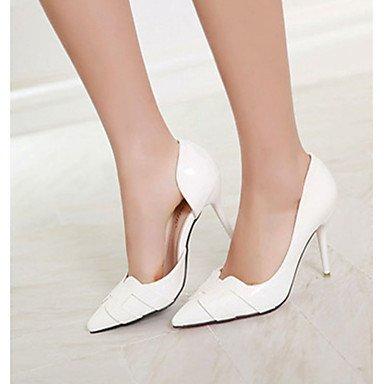 Moda donna sexy sandali scarpe da donna in pelle di brevetto estate tacchi tacchi Casual Stiletto Heel altri nero / verde / bianco / arancio Black