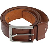 Forest Belts - Cinturón de piel modelo Chevron para hombre