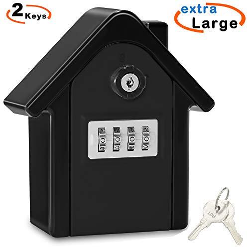 Caja Seguridad Llaves Grande Caja Llaves Combinacion Key Safe Box with 4 Dígitos Código, Almacenamiento...
