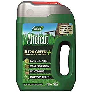 Aftercut Ultra Green + Lawn Feed & Iron Supplement Even Flo Spreader, 80 m2, 2.8 kg