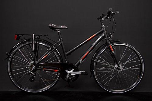 "28\"" Zoll Alu MIFA Damen Trekkingbike Fahrrad Shimano 21 Gang Nabendynamo Schwarz RH 50cm"