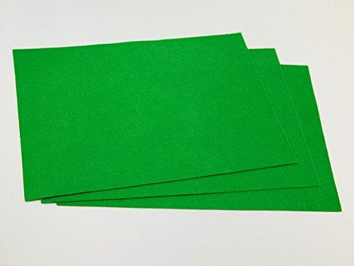 Minerva Feutrine Acrylique Uni A4 Rectangle Vert Prairie – par Feuille
