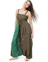 - Combinaison sarwel imprime indian ethnic chic cachemire et fleurs -