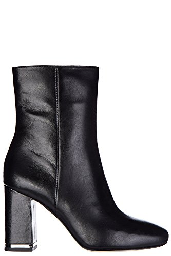Michael Kors women's leather heel ankle boots booties ursula black UK size...