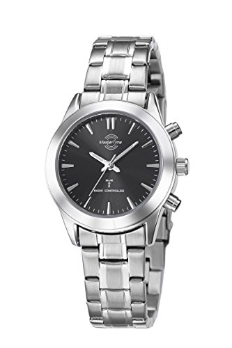 Master Time Funk Quarz Damen Uhr Analog mit Edelstahl Armband MTLS-10317-22M