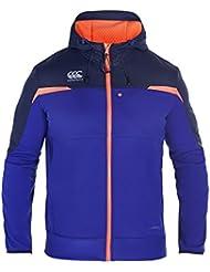 CANTERBURY thermoreg Veste entièrement zippée à capuche pour homme–Clématite Bleu, Petit