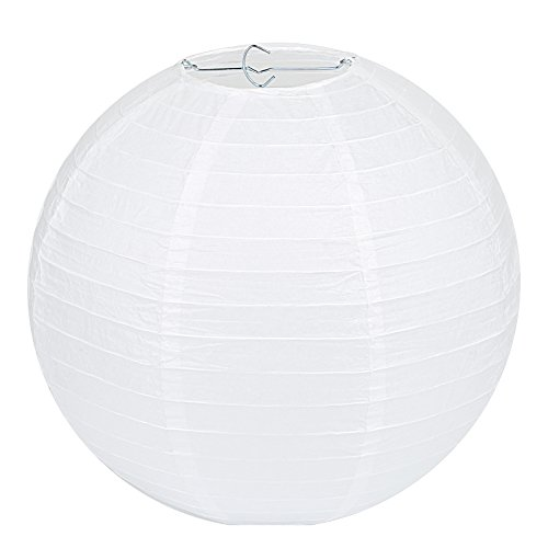 ier Laterne Lampion Rund Lampenschirm Hochtzeit Party Dekoration Ballform (10er Packung) ()