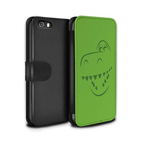 STUFF4 PU-Leder Hülle/Case/Tasche/Cover für Apple iPhone 5/5S / Rex Dino Inspiriert Muster / Süße Spielzeugfiguren Kollektion (Toy Fällen 5s I Phone Story)