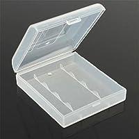 Stillar - Caja de Almacenamiento de batería de plástico Blanco Duro para 4 x 14500 Aat Clear DIY Power Bank Iqos Soporte de batería