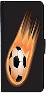 Snoogg Soccer Fire Designer Protective Phone Flip Case Cover For Coolpad Note 3 Lite