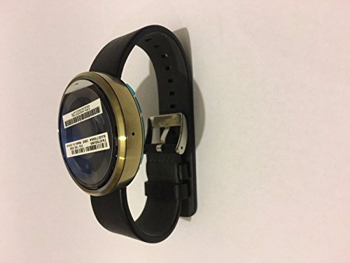 Motorola Moto 360 Android Smart Watch Activity Track - Gold With Black Leather (Certified Refurbished)