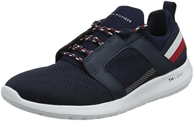 Tommy Hilfiger Technical Material Mix Sneaker, Zapatillas para Hombre