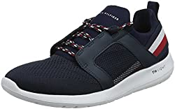 Tommy Hilfiger Men's Technical Material Mix Low-top Sneakers, Blue (Midnight 403), 9 Uk