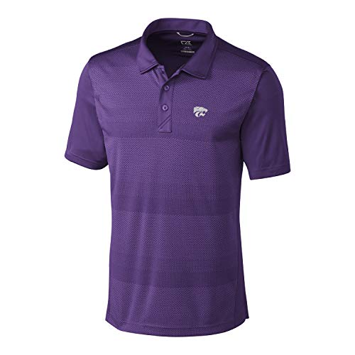 Cutter & Buck NCAA Herren Kurz Sleeve Crescent Print Polo, Herren, Short Sleeve Crescent Print Polo, College Purple, Large