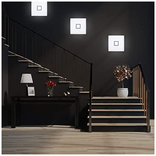 Plafoniera LED ultra sottile, luce bianca naturale 4000K, 2400 Lm, LED integrati 18W, alta 2.8cm, quadrata lato 29.3cm, lampada da soffitto per cucina, soggiorno o sala da pranzo, plastica, IP20, 230V