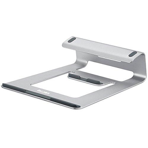 Preisvergleich Produktbild BUJIAN Laptopständer Aluminium Ständer und Halter für Notebook Macbook Pro Air iPad Lenovo Asus 10-15 zoll (Silber)