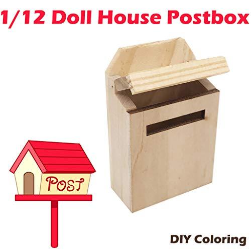 (TianranRT Außerhalb Briefkasten Briefkasten Postfach DIY Farbe Für 1/12 Puppenhaus)