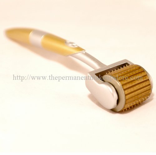 ZGTS 1.5mm Professional Luxury Gold Plated Titanium Alloy Needles Roller Treating Acne Scars, Skin, Hair Loss, Wrinkles, Blackheads, Lines, Sun Damaged, Ageing- Daily Care Product, Reducing Blemishes Scars Potholes Cellulite Stretchmarks Uplifting Whitening Regeneratio