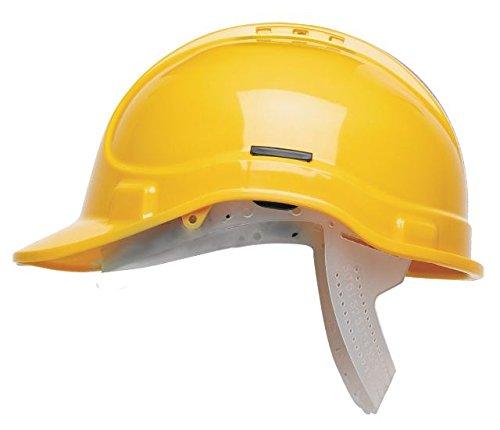 Scott Safety HC300/VY/NSB Casco di sicurezza ventilato senza fascia per il sudore, colore: giallo