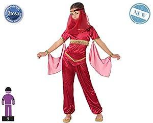 Atosa-61484 Atosa-61484-Disfraz Princesa Arabe-Infantil Niña, Color rojo, 7 a 9 años (61484