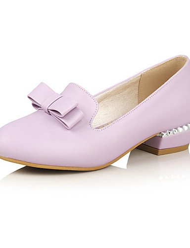 WSS 2016 Chaussures Femme-Mariage / Habillé / Décontracté / Soirée & Evénement-Noir / Rose / Violet / Blanc-Gros Talon-Talons-Talons-Similicuir black-us6.5-7 / eu37 / uk4.5-5 / cn37