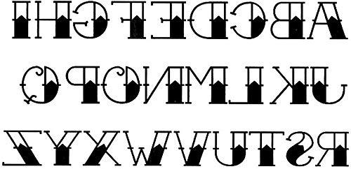 Tatuaggi temporanei lettere dell'alfabeto, per uomo e donna, tatuaggio temporaneo, anteriore braccio/gamba/polpaccio/braccio/nuca, 21 x 11 cm
