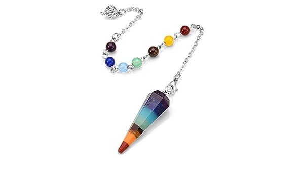 Amethyst Quartz Opalite Gemstone Crystal Healing radiesthésie Chakra Pendentif Pendule