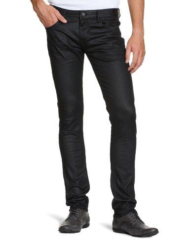 Cross Jeans Herren Jeanshose/ Lang F 196-006 / Andy, Tapered Fit (Karotte) Schwarz (clean black)