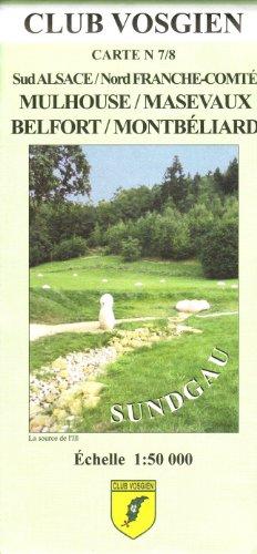 Carte de randonnée : Sungdau - Mulhouse - Masevaux par Cartes Club Vosgien