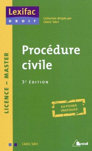 Procédure civile par Cédric Tahri